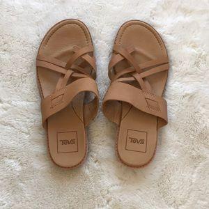 Teva Beige Leather Sandals